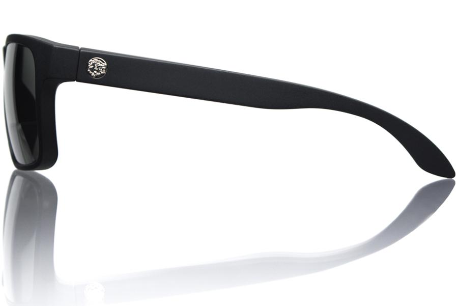 Model D3 Black Matte Grey Polycarbonate Polarized Side Bucci Sunglasses wb