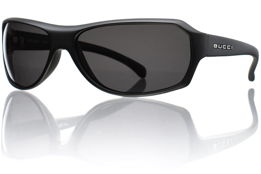 Model R1 Black Matte Grey Polycarbonate Polarized Angle Bucci Sunglasses wb