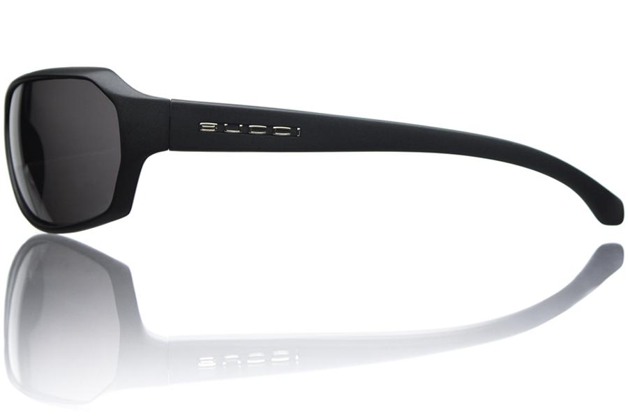 Model R1 Black Matte Grey Polycarbonate Polarized Side Bucci Sunglasses wb